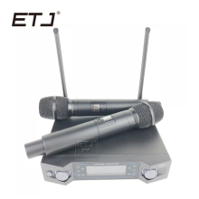 ETJ Wireless Microphone with Screen UHF 50M Distance 2 Channel Handheld Mic System Karaoke Wireless Microphone AK-4 high end uhf 8x50 channel goose neck desk wireless conference microphones system for meeting room