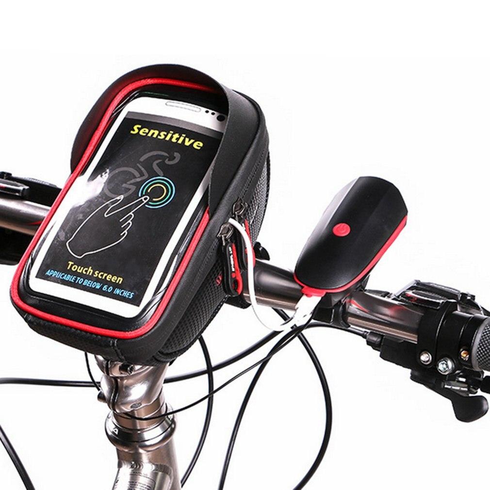 WHEEL UP 6 Inch 360 degree Rotatable Waterproof Mobile Phone Pouch Touch Screen Bike Bag Cycling Frame Bag Handlebar