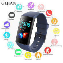 GEJIAN Smart Bracelet With Heart Rate Monitoring ECG Blood Pressure IP68 Fitness Step Counter Tracker Sports Smart Watch Men(China)