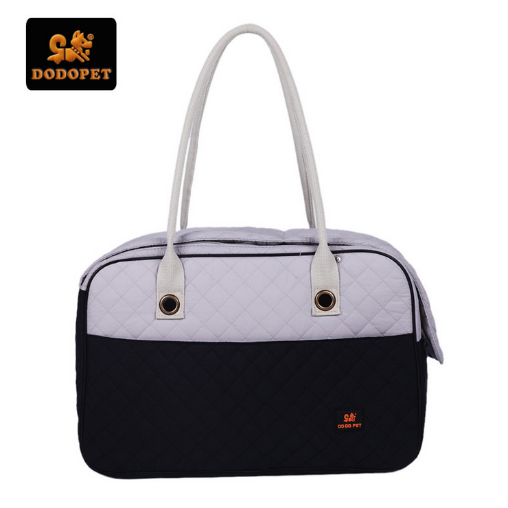DODOPET Dog Carrier Bag Windproof Winter Pet Carrier Bag Diamond Quilted Dog Bag Fashion Luxury Portable