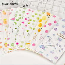 5PCS/LOTS Creative Envelope Fruit Pie Fresh And Elegant Lovely Diverse Shapes Random Delivery Wholesale OfferFor girl YOUE SHONE