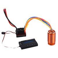 LCLL SURPASS HOBBY 4076 2000KV Sensorless Brushless Motor 150A Brushless ESC with 8.4V 3A Switch Mode BEC LCD Programming Card