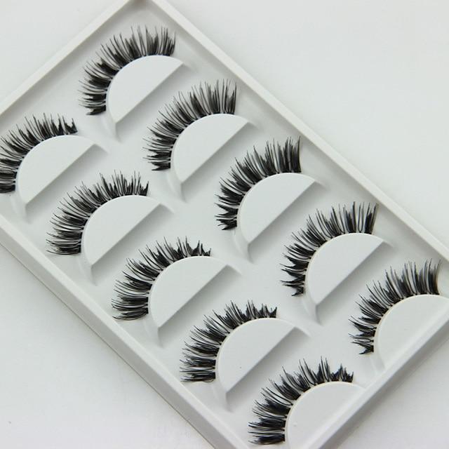 5 Pairs High Tech Weaving Women Make Up False Eyelashes