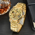 Automatic Mechanical Watch Brand MCE unisex golden Steel Luxury men's wristwatch vogue Skeleton Hollow 0048