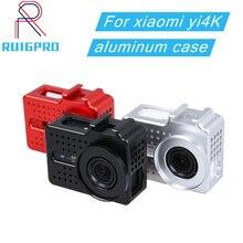 สำหรับ xiaomi yi 4K กล้องอลูมิเนียมอัลลอยด์โลหะกรอบป้องกันกรณี + UV กรองสำหรับ xiaomi yi II 4k 4K + กล้อง