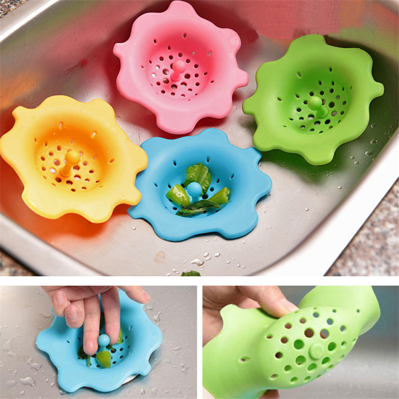 Noel Hair Stoppers /& Catchers Kitchen//Bathroom Silicone Sink Filter Screen Floor Drain Hair Stopper Hand Sink Plug Bath Catcher Sink Strainer Tool by 1 PCs