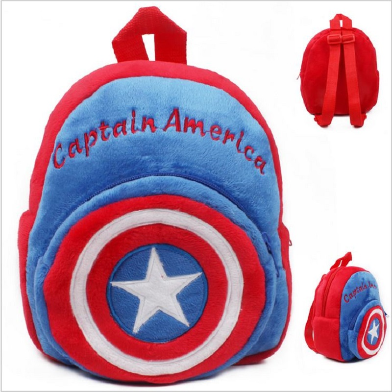 2016 New Movie Avenger Captain America 3 Plush Backpack Toys Super Hero Schoolbag Baby Infant Toys#ML0274 image