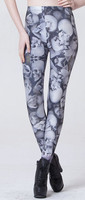 2017 Promotion Top Polyester Mid Knitted Leggins  Leggings Fitness Star Digital Print Sexy Dairy Leggings Lgs3368 Xypma