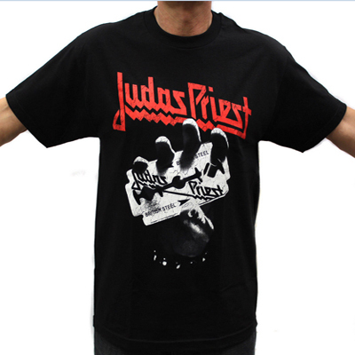 Judas priest rock band graphic t shirts in men 39 s hip hop for Where can i order custom t shirts