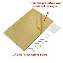 Universal Plataforma Experimental Transparente Acrílico Board para arduino compatível UNO R3