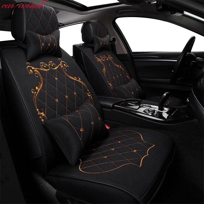 Voiture vent Auto universel set automovil housses de siège de voiture pour Toyota Corolla Camry Rav4 Auris Prius Yalis housse de siège accessoires de voiture