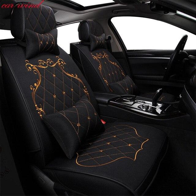 רכב רוח אוטומטי אוניברסלי סט automovil רכב עבור טויוטה קורולה קאמרי Rav4 Auris פריוס Yalis מושב כיסוי מכונית אבזרים
