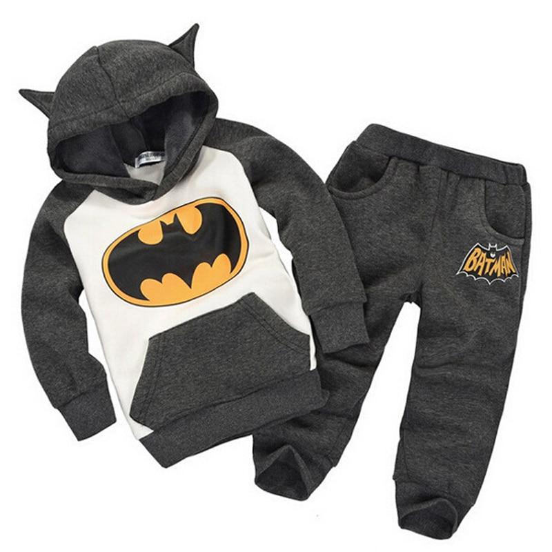 1 шт. осень-зима для мальчиков толстовки с капюшоном для девочек милый супергерой толстовки с капюшоном детские, для малышей Бэтмен комплект...