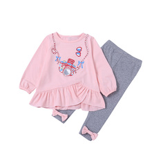hot deal buy girls clothing sets long sleeve t shirt with bowknot leggings kids clothing sets suit for girls 2 piece set