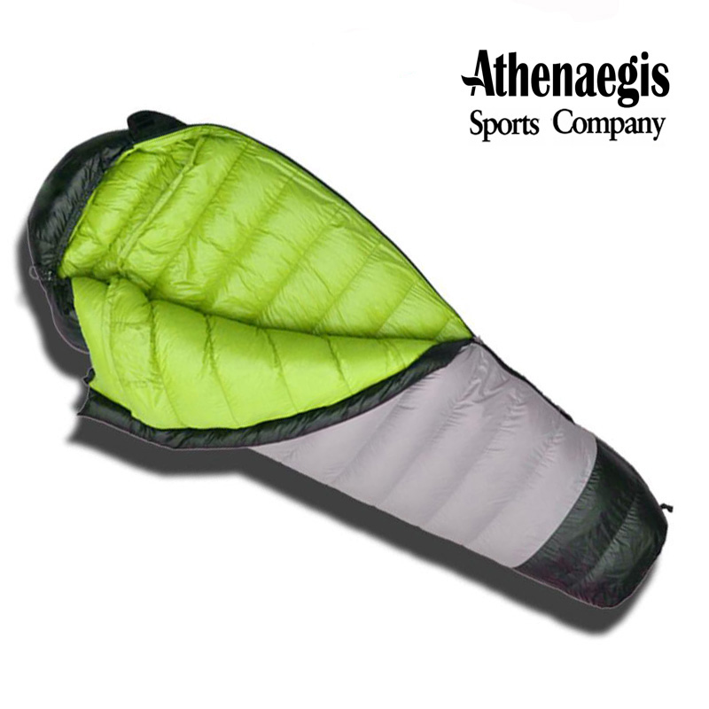 Athenaegis Brand new arrival white goose down 600g/800g/1000g/1200g filling spliced envelope adult breathable sleeping bag-in Sleeping Bags from Sports & Entertainment    1