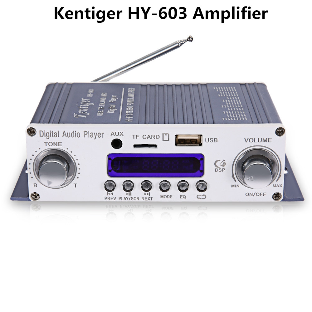 Оригинал HY-602 603 400 Усилитель Kentiger HY Спикер HiFi Стерео Усилитель Цифровой Усилитель с FM ИК Управления MP3 Воспроизведения USB