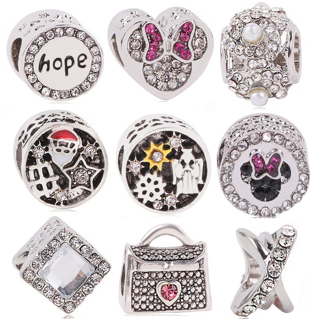 dodocharms Silver Color Angel Bag Hope Minnie Santa Claus DIY Love ...