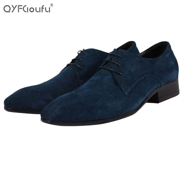 Italy Brands Men Oxford Shoes Suede Genuine Leather Mens Fashion
