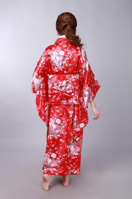 placeholder Shanghai Story hot sale Vintage Japanese Style Dress Japan  Women s Silk Satin Kimono Yukata Evening Dress 7ab495cf8af0