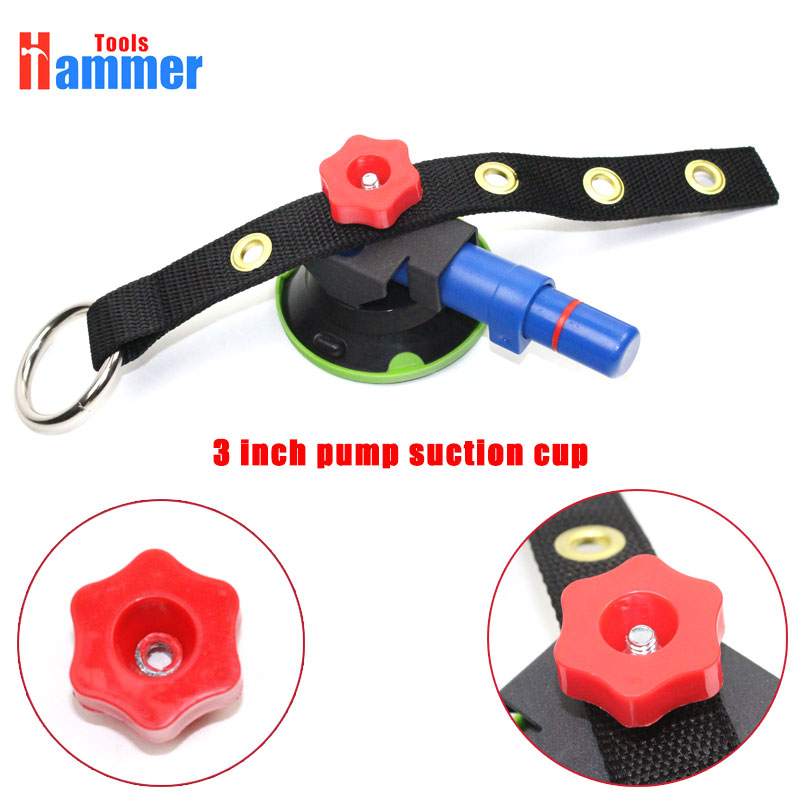 75mm Heavy Duty Hand Pump Suction Cup with strap for paintless dent repair|Hand Tool Sets| |  - title=