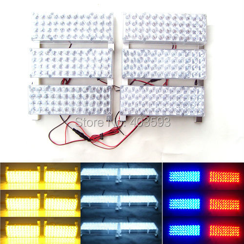 6*48 288 LED Car Vehicle Auto Warning Blinking Strobe Flash Emergency Lights Lightbar Deck Dash LIGHTS 12V