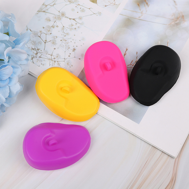 1 Pair Silicone Ear Cover Practical Travel Hair Color Showers Water Shampoo Ear Protector Cover For Ear Care 2