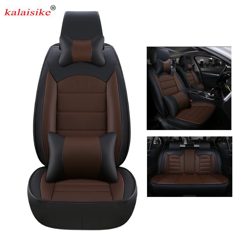 kalaisike quality leather universal car seat covers for Toyota all models Venza Crown Camry RAV4 YARiS Levin verso VIOS Corolla