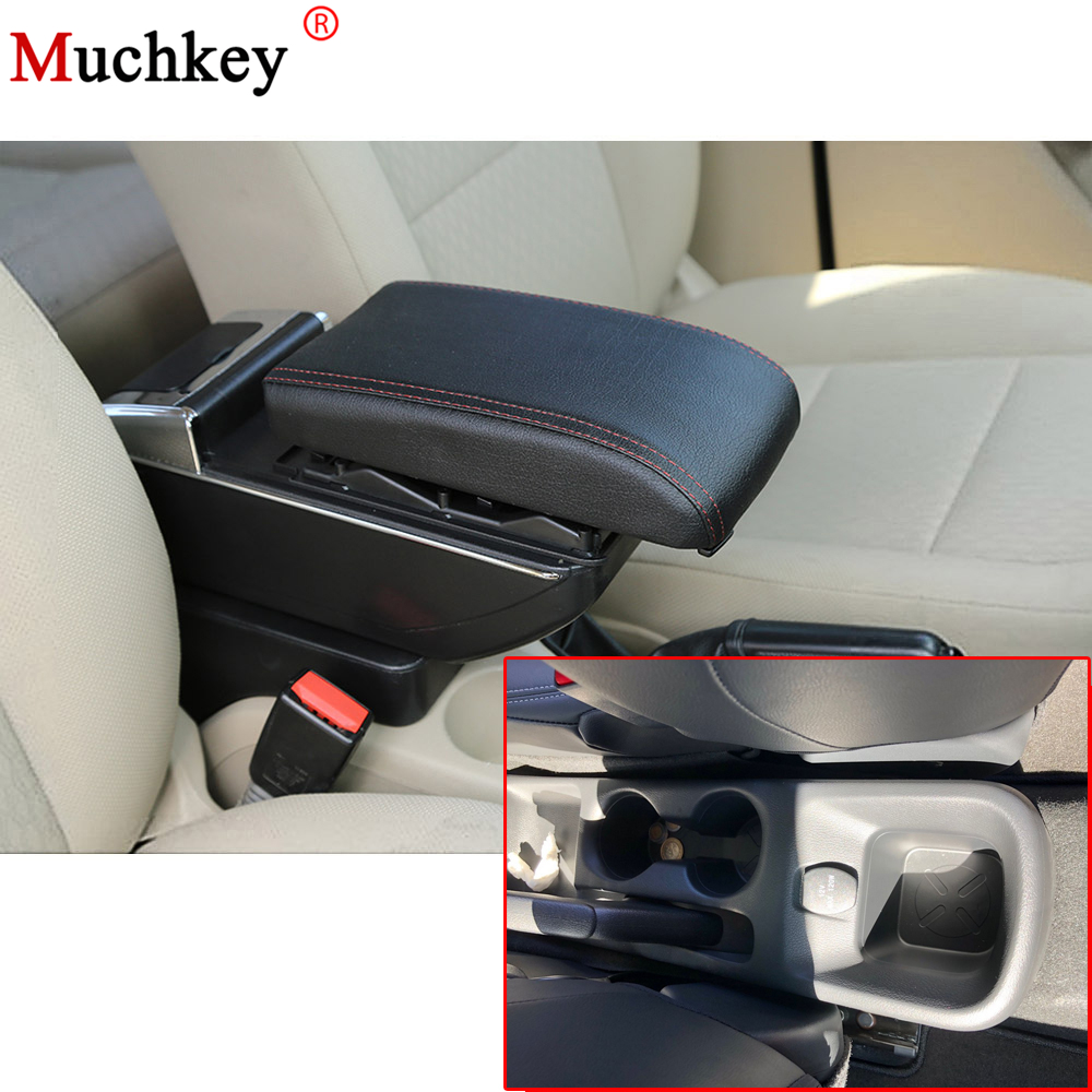 Armrest box For Nissan Kicks 2017 2018 Central Console Arm Store With Rise and Down Function content box cup holder ashtray Auto auto ashtray cup shaped shiny finish with hook