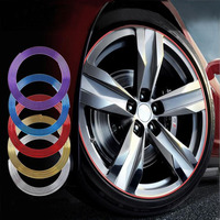 FREE SHIPPING 8 M New Arrival For Car Wheel Hub Rim Edge Protector Ring Tire Guard