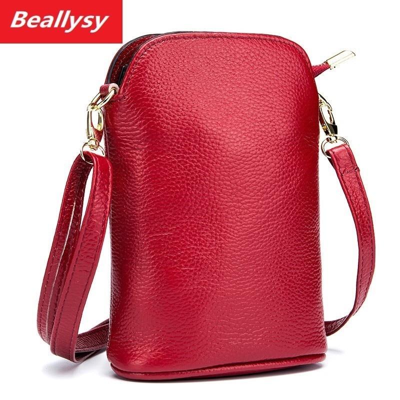 High Quality Genuine Leather Women Crossbody Bags Fashion Bucket Design Women Shoulder Bags Color Shoulder Strap Ladies Handbags