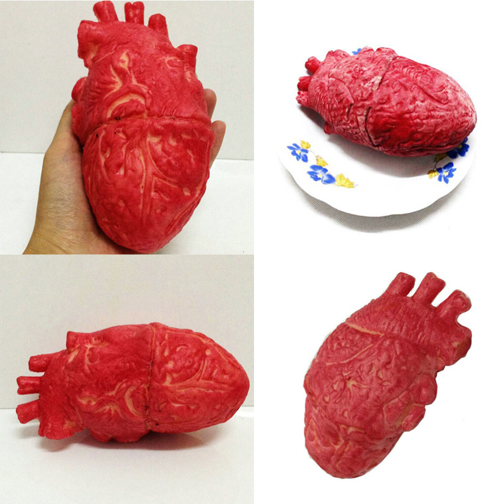 US $2 52 OFF Halloween Party Decor Lifesize Heart Haunted House Party Scary Decorations Horror Blood Props Halloween decoration decorative