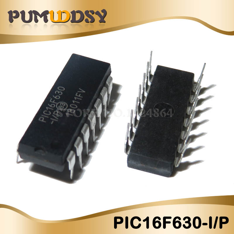 5pcs/lot Free Shipping PIC16F630-I/P PIC16F630 16F630 DIP14 100% NEW Goods In Stock IC