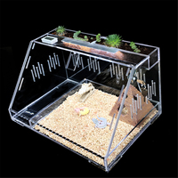 Large Acrylic Reptile Terrariums Plant Feeding Tank Lizard Insect Spiders Breeding Box Transparent Cage House Reptiles Supplies