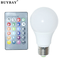E27 RGB led lamp 3W 10W ball Bulb chandelier LED Light AC90-260V Remote Control 16 Color Change Lampada Luz changeable colorfull