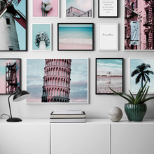 Tower Windmill Sea Tree Flower Quote Nordic Posters And Prints Wall Art Canvas Painting Pictures For Living Room Home Decor