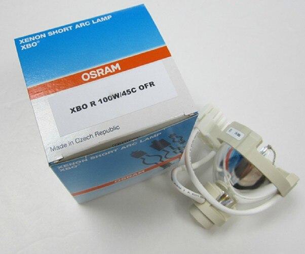 DHL FRETE GRÁTIS, OSRAM XBO R 100 W/República Checa 45C DC, EPK-1000 fonte de luz, 100 W OFR xenon lâmpada de arco curto