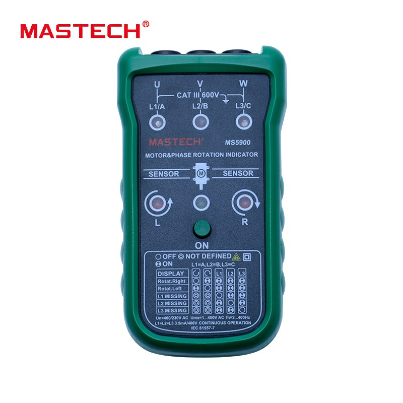 51902987 Mastech MS5900 Phase and Motor Rotation Indicator Non-Contact Rotary Field  Indication