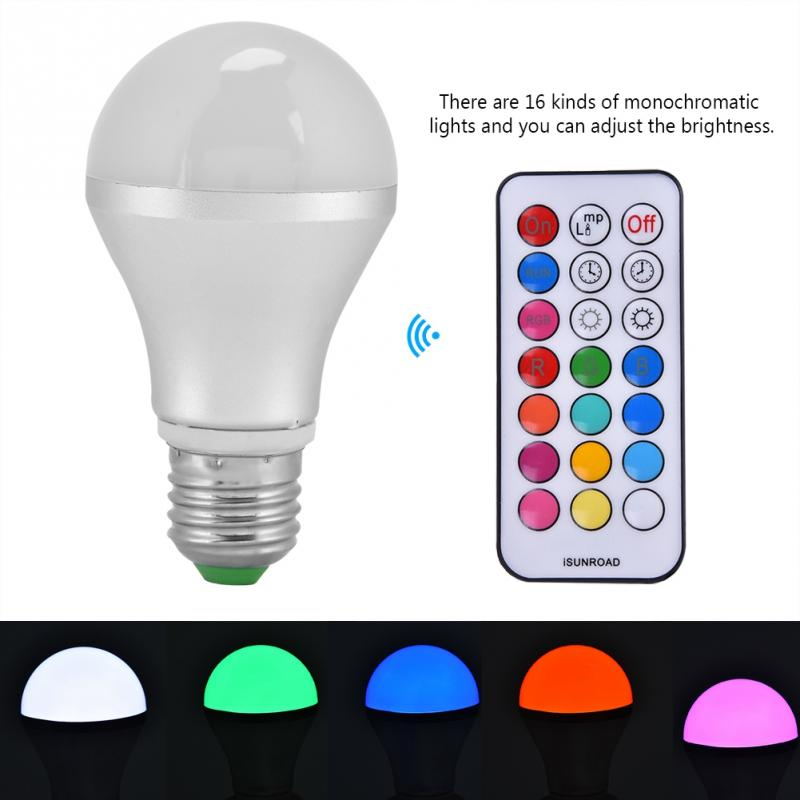 10W E27 16LED RGBW Light Bulb with Remote Controller for Home Party Pub AC85V-265V