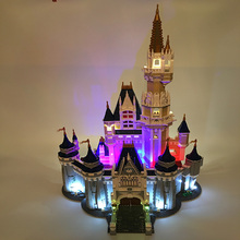 лучшая цена Led Light Kit Cool Building City Street 71040 16008 Cinderella Princess Castle Model Blocks Creator City Street Lighting Set