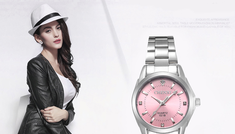 6 Fashion colors CHENXI CX021B Brand relogio Luxury Women's Casual watches waterproof watch women fashion Dress Rhinestone watch 10