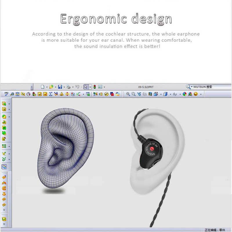 tebaurry d6 dual unit driver earphone for phone mp3 mp4 sport in-ear  earphone 3 5