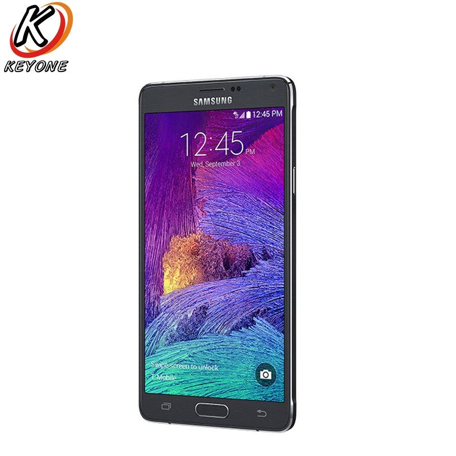 D'origine T-Version Mobile Samsung Galaxy Note 4 Note4 N910T LTE Smartphone 5.7 pouce 16MP 3 GB 32 GB GPS NFC Mobile Téléphone