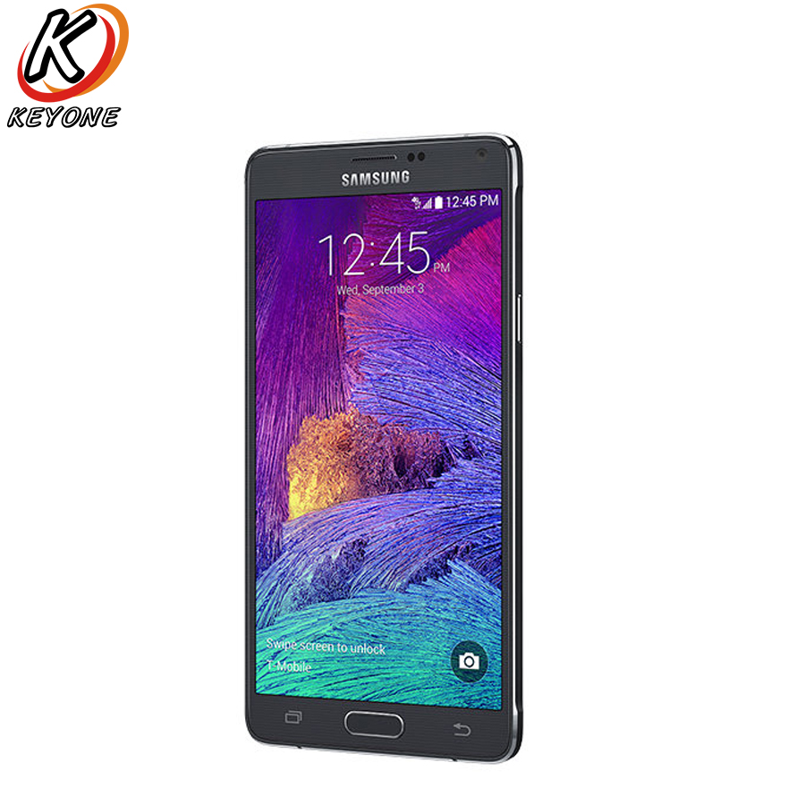 D'origine T-Version Mobile Samsung Galaxy Note 4 Note4 N910T LTE Smartphone 5.7 pouce 16MP 3 GB 32 GB GPS NFC Mobile Téléphone