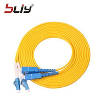 Free shipping 10pcs/bag LC/UPC SC/UPC singlemode simplex fiber optic patch cord 3m optical patch cable/Jumper wire