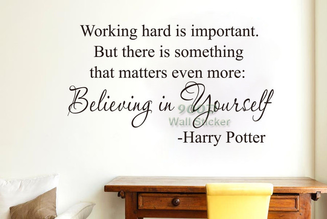 Beautiful Believing In Yourself, Harry Potter Quote Wall Sticker, DIY Home Decoration  Wall Art Vinyl