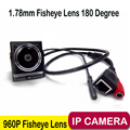 960 P 1.78 мм Рыбий глаз 180 Градусов аудио монитор Мини IP камера Сетевая Камера Мобильного Телефона P2P мини IP-КАМЕРА Широкий Угол камера