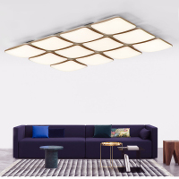 FULOC Square Chandelier For Living Room Bedroom Home AC85 265V Modern Led Ceiling Chandelier Lamp Fixtures Free Shipping