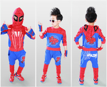 2016 new Brand High quality Spring Autumn children clothing sets 3PCS/set boys girls spider man clothes cotton suits