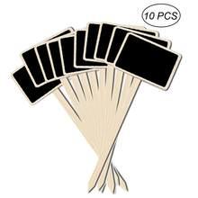 81b4e090d 10 piezas duradero Mini pizarra de madera pizarra signos jardín FLORES  PLANTAS etiquetas pizarra tablero de escritura casa Decor.