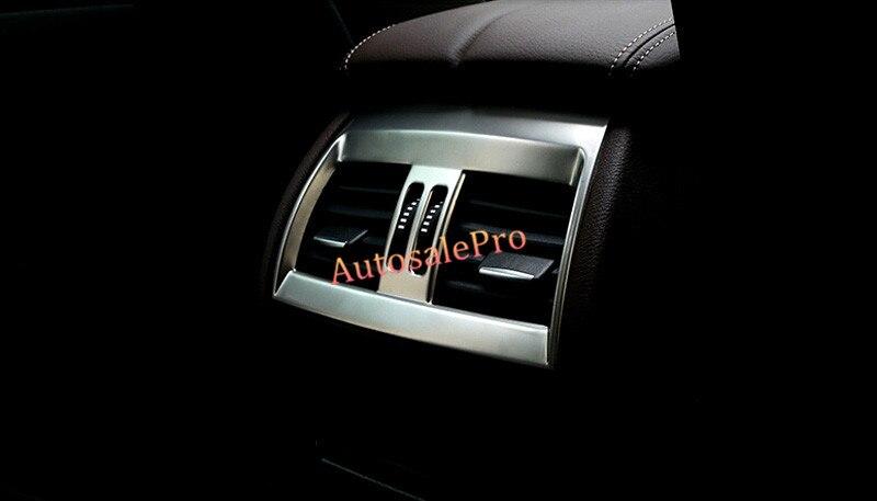 Pour BMW X5 F15 2014 2015 Console en acier inoxydable accoudoir arrière boîte climatisation